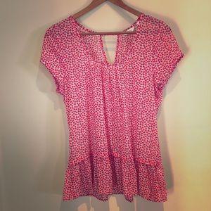 Reitmans cherry print blouse